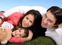 Beautiful family in the park Royalty Free Stock Images