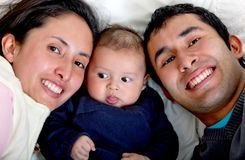 Beautiful family portrait Royalty Free Stock Photography