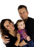 Beautiful family portrait. Beautiful family isolated on a white background Stock Photos