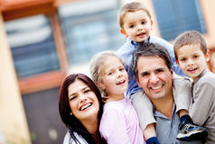 Beautiful family portrait Stock Images