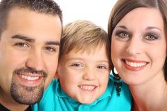 Beautiful family portrait aqua Stock Photo