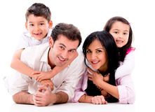 Beautiful family portrait Royalty Free Stock Photos