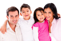 Beautiful family portrait Royalty Free Stock Image