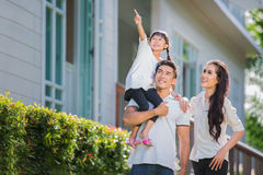 Beautiful family portrait smiling Royalty Free Stock Images