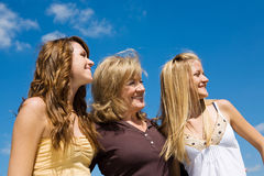 Beautiful Family in Profile Royalty Free Stock Photography