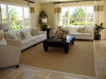 beautiful family room Royaltyfri Foto
