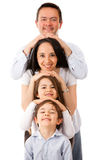 Beautiful family in a row Stock Photos