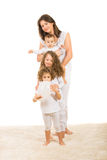 Beautiful family in a row Stock Images
