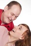 Beautiful family smiling Stock Photos