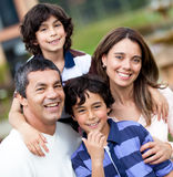 Beautiful family smiling Stock Images