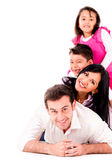 Beautiful family smiling together Royalty Free Stock Photography