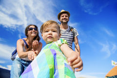 Beautiful family at summer festival Royalty Free Stock Images