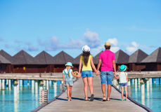 Beautiful family on summer vacation Stock Photo