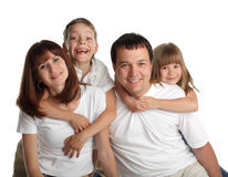 Beautiful family with two children Stock Images