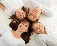 Beautiful family with two children. Series Stock Images