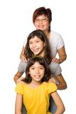 Beautiful family with two young daughters Stock Images