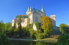 Beautiful Famous Bojnice castle 5, slovakia royalty free stock images