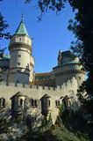 Beautiful Famous Bojnice castle 8, slovakia. Bojnice Castle is a medieval castle in Bojnice, Slovakia. It is a Romantic castle with some original Gothic and royalty free stock photos
