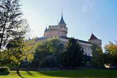 Beautiful Famous Bojnice castle 10, slovakia. Bojnice Castle is a medieval castle in Bojnice, Slovakia. It is a Romantic castle with some original Gothic and stock images