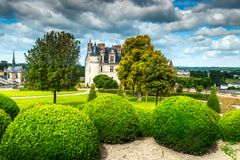 Beautiful famous castle of Amboise, Loire Valley, France, Europe Stock Photo