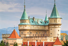 The beautiful and famous Castle Bojnice in Slovakia Stock Images