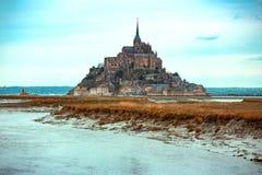 Beautiful famous castle Mont-Saint-Michel stock image