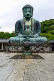 Beautiful and famous giant bronze Buddha Statues Kamakura Daibut Royalty Free Stock Photo