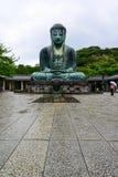 Beautiful and famous giant bronze Buddha Statues Kamakura Daibut Stock Photos