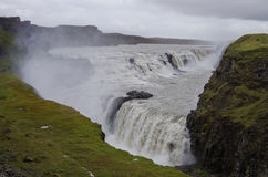 Beautiful and famous Gullfoss waterfall, Golden circle route in. Iceland Stock Photo