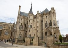 Beautiful and famous landmark Astorga Epsiscopal Palace, in Astorga, Leon, Spain. royalty free stock image