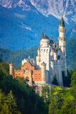 Beautiful Famous Neuschwanstein Castle, Germany, Europe Royalty Free Stock Photos