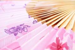 Beautiful fan. Pink opened fan as a background Royalty Free Stock Photos