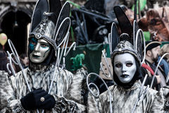 Beautiful fantasy Masks at Carnival in Venice Stock Photos