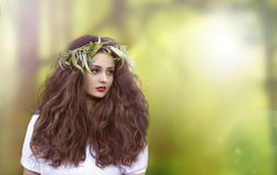 Free Beautiful Fantasy Woman. Fairy. Witch. Book Cover Stock Images - 44459064