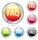 Beautiful FAQ buttons collection. Stock Photo