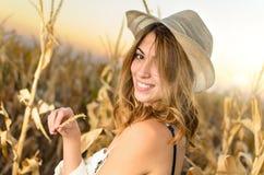 Beautiful farm girl Royalty Free Stock Photography