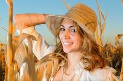 Beautiful farm girl Stock Image
