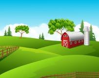 Beautiful farm landscape background Royalty Free Stock Image