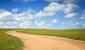 A beautiful farm road Royalty Free Stock Images