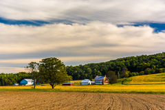 Beautiful farm scene in rural York County, Pennsylvania. Stock Photos