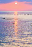 Beautiful fascinate morning sea view. Royalty Free Stock Photography