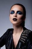Beautiful fashion arrogant woman with - make-up Royalty Free Stock Image