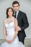 Beautiful fashion bridal couple Royalty Free Stock Image