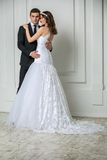 Beautiful fashion bridal couple Stock Image