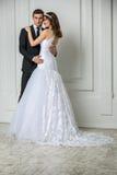 Beautiful fashion bridal couple Stock Image