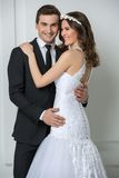 Beautiful fashion bridal couple Stock Photo