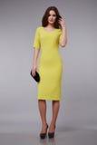 Beautiful fashion dress style woman clothes makeup Royalty Free Stock Photos