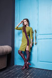 Beautiful fashion dress style woman clothes makeup Stock Photo