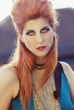 Beautiful, fashion editorial styled woman Royalty Free Stock Image