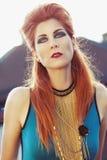 Beautiful, fashion editorial styled woman Stock Photo